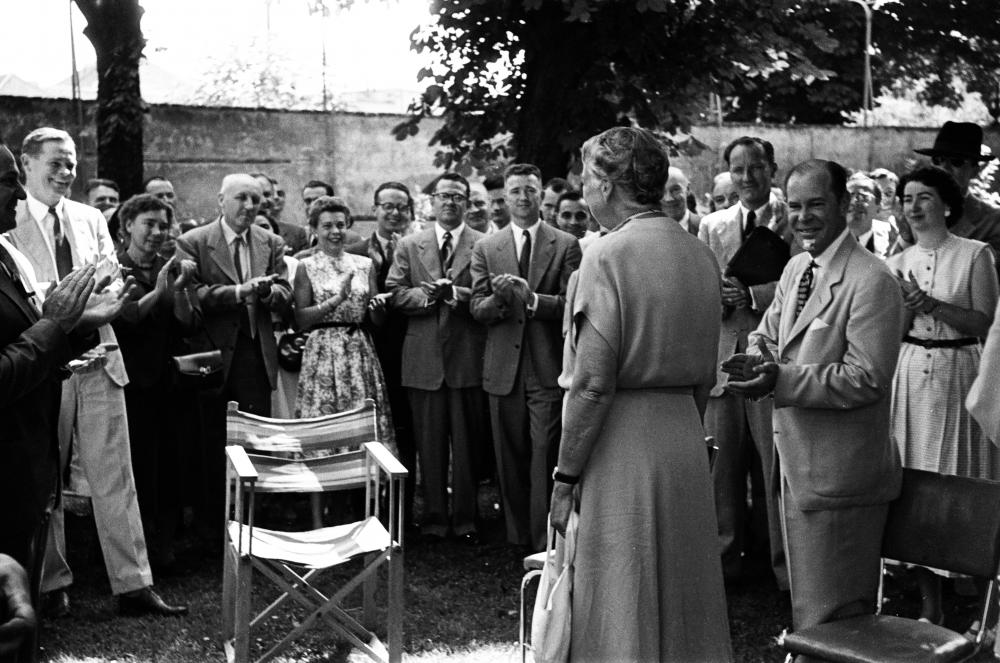 Eleanor Roosevelt in Wien, undatiert