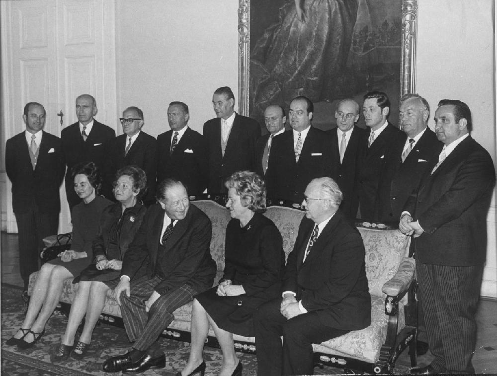 Regierungsfoto Kabinett Kreisky II, 21.4.1971